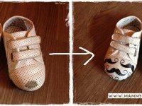 Kopott orrú gyerekcipő felújítása