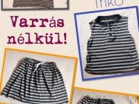 Felnőtt pólóból trikó, szoknya vagy rövidnadrág készítése